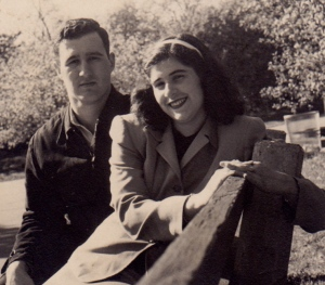 My parents, circa 1949