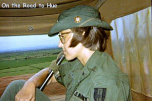 Military nurse in a truck in Vietnam
