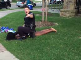 Police officer manages to subdue 14-year-old girl at a pool party. (Photo 10News.com)