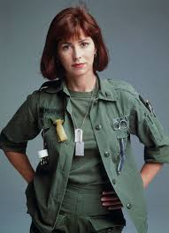 """Actor Dana Delany dressed as her character in """"China Beach,"""" an Army nurse."""